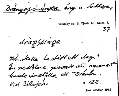 Bild på arkivkortet för arkivposten Drängsjöängen